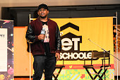 Sway Calloway attends Get Schooled Celebrate at Carol City Middle School on January 20 2016 in Miami Florida