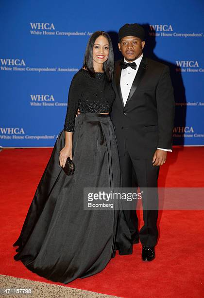 Sway Calloway right arrives for the White House Correspondents' Association dinner in Washington DC US on Saturday April 25 2015 The 101st WHCA...