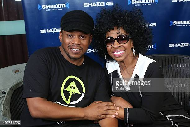 Sway interviews Gladys Knight at SiriusXM Studios on September 30 2015 in New York City