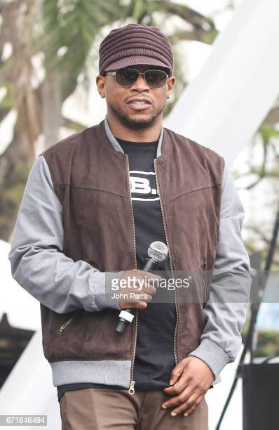 Sway is seen at Kaya Fest at Bayfront Park Amphitheater on April 22 2017 in Miami Florida