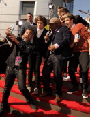 Sway with One Direction at the 2012 MTV Video Music Awards at Staples Center on September 6 2012 in Los Angeles California