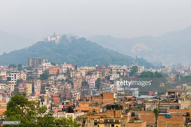 Swayambhunath Stupa from Central Kathmandu, Nepal
