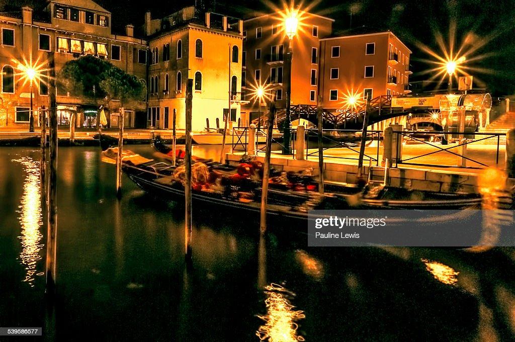 Swaying Gondolas By Night