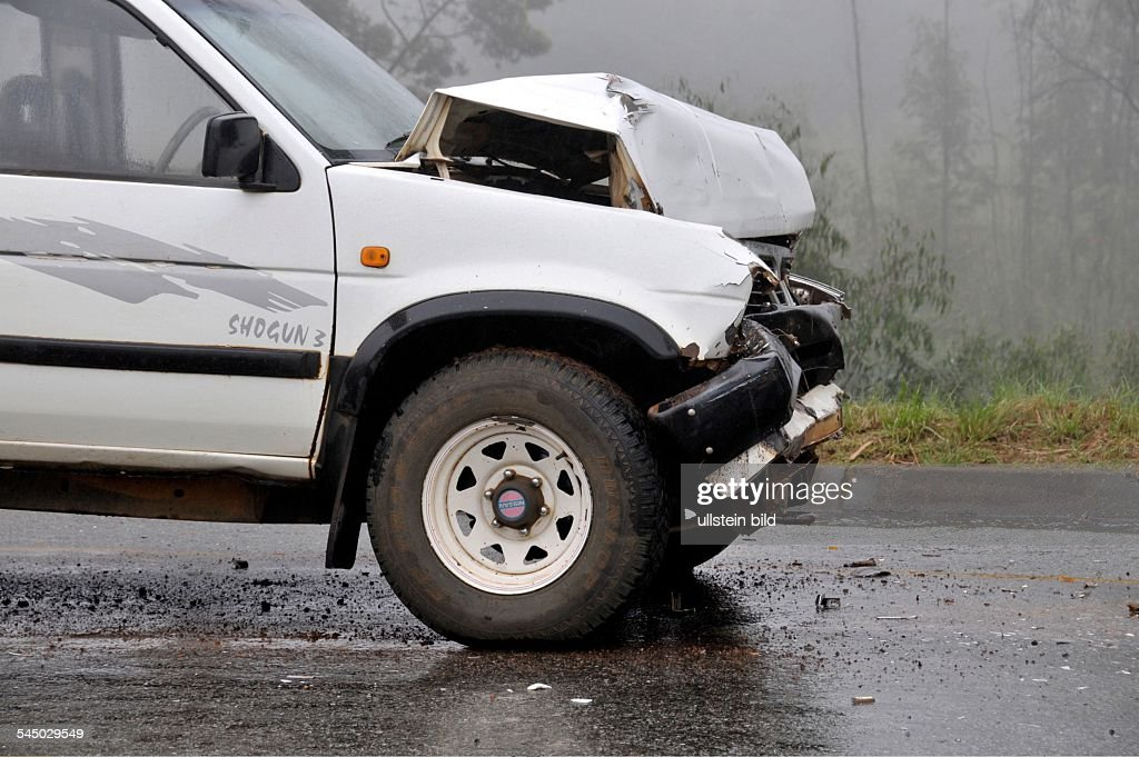 Swaziland Car Accident Damaged Suv Rental Car Pictures