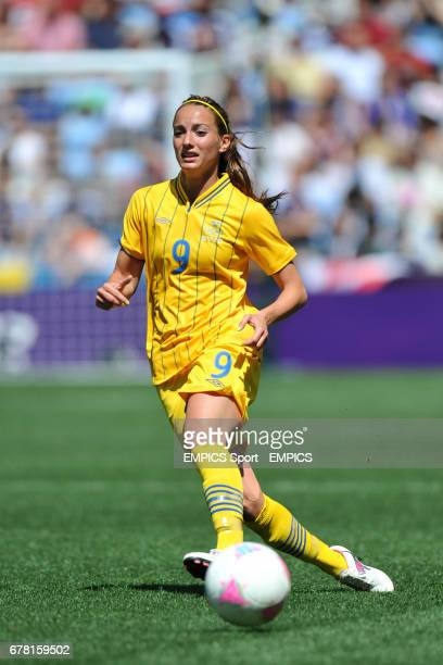 Swden's Kosovare Asllani during the Group F women's match between Japan and Sweden at the City of Coventry Stadium