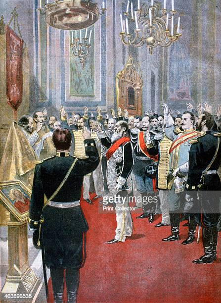 Swearing the oath of allegiance to Tsar Nicholas II Russian church in Paris 1894 Nicholas came to the throne in November 1894 after the death of his...