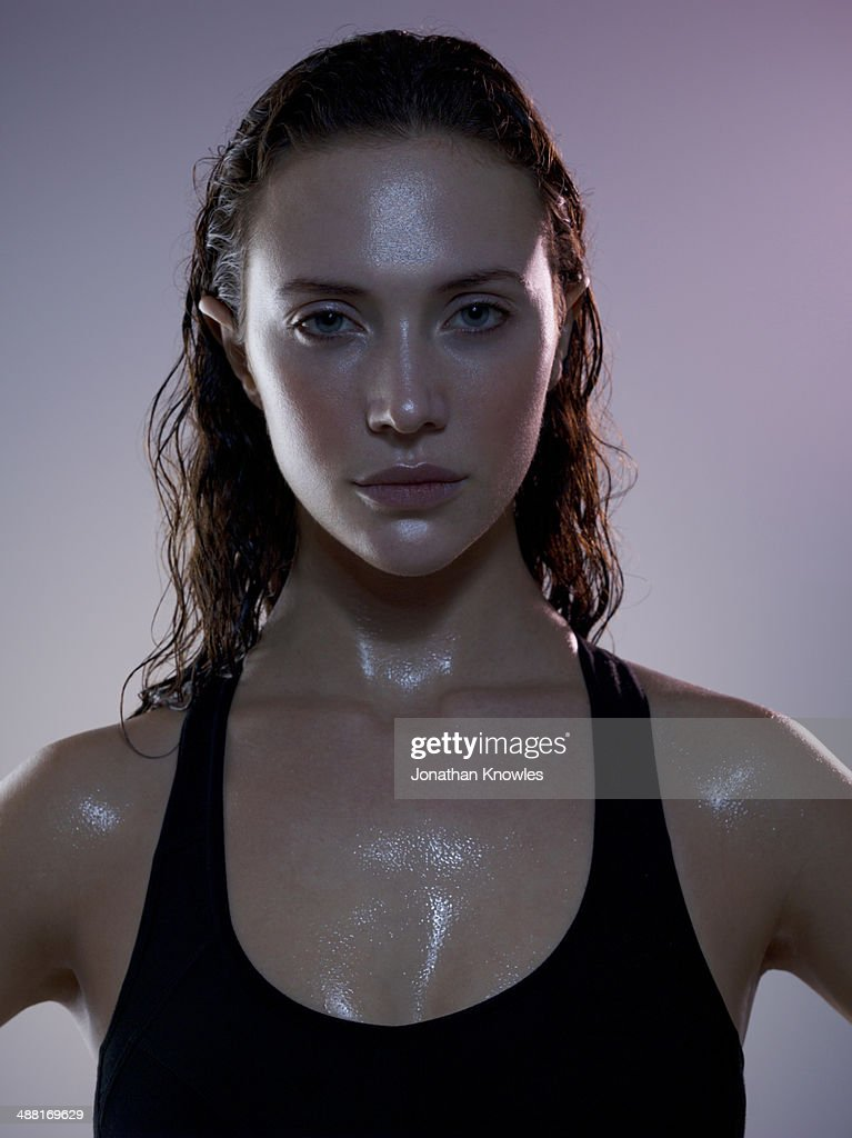 Sweaty Female Post Workout Stock Photo Getty Images