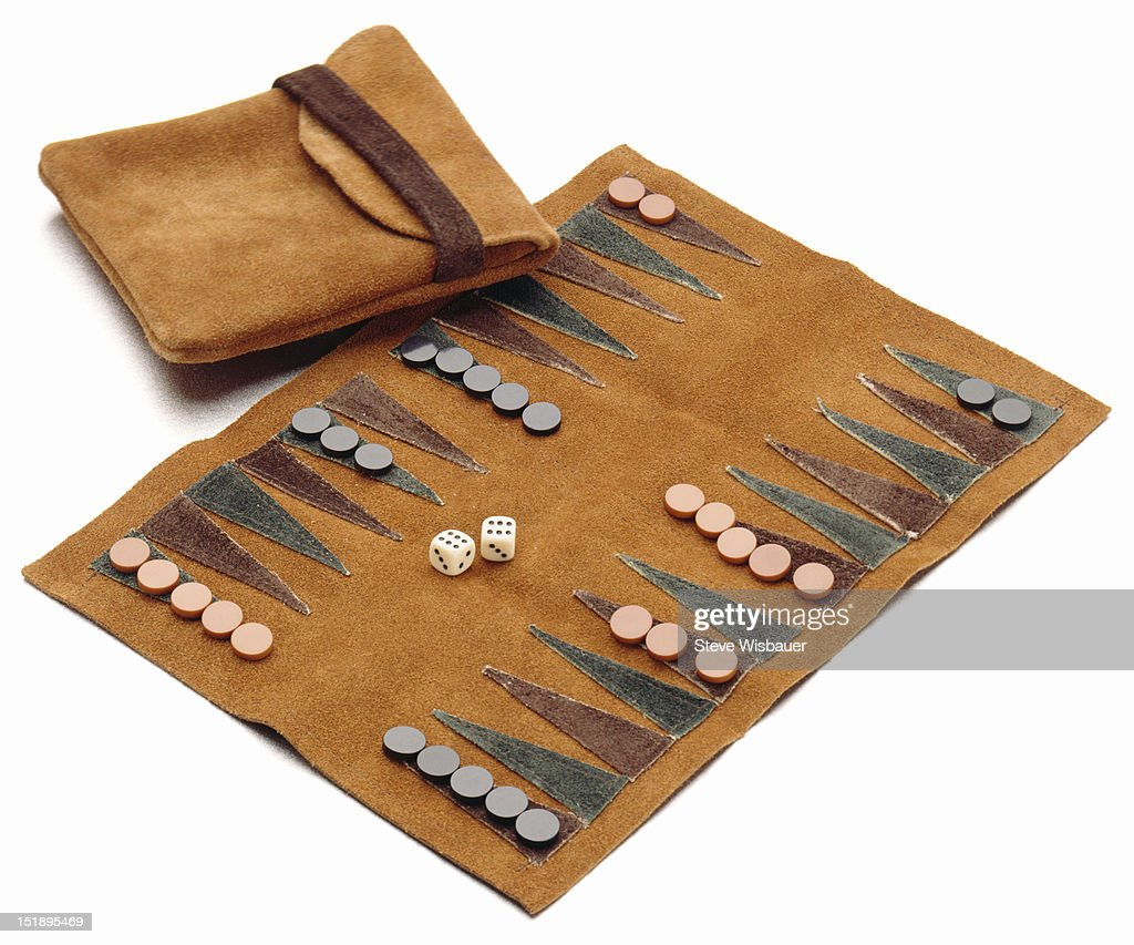 a swede leather roll up travel backgammon game - Backgammon Game