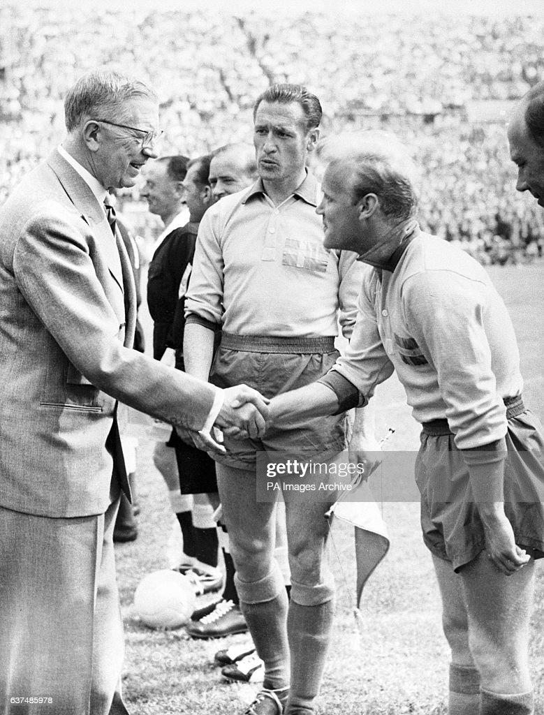 Soccer 1958 FIFA World Cup Sweden Sweden v Mexico Rasunda