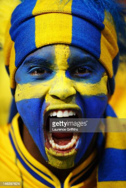 Sweden fan enjoys the atmosphere ahead of the UEFA EURO 2012 group D match between Sweden and England at The Olympic Stadium on June 15 2012 in Kiev...