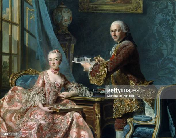 Sweden Gothenburg Art Museum of Gothenburg Whole artwork view Louis XV's mistress Jeanne Antoinette Poisson Marquise de Pompadour with her brother...