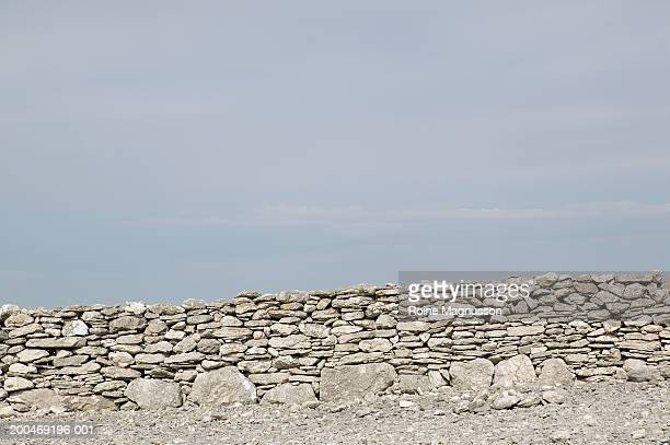 Sweden, Gotland, stone wall