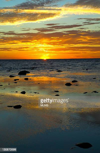Sweden, Island Oland, sunset