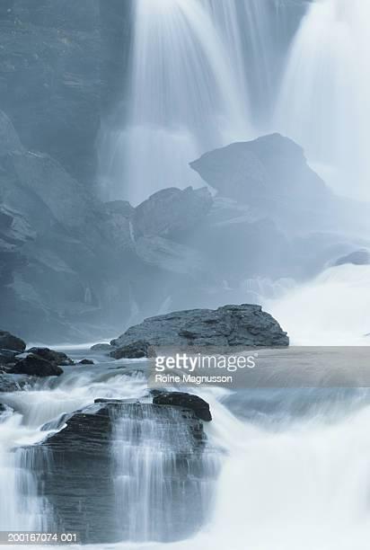 Sweden, Jamtland, Ristafallen waterfall, summer