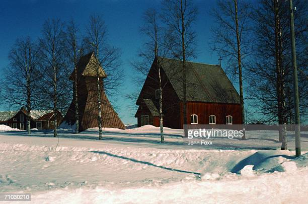 Sweden, Stockholm, Farm house in winter