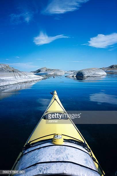Sweden, Stockholm, kayak on lake