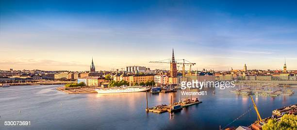 Sweden, Stockholm, Old town at sunset