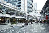 Sweden, Stockholm, upscale outdoor mall