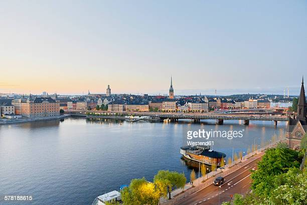 Sweden, Stockholm, view from Soedermalm to the old town