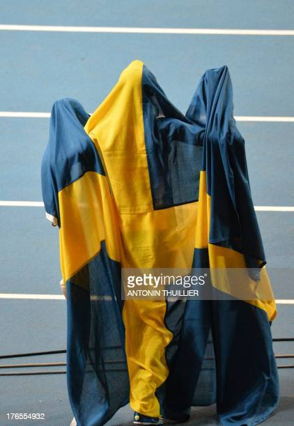 Sweden's Abeba Aregawi celebrates after winning the women's 1500 metres final at the 2013 IAAF World Championships at the Luzhniki stadium in Moscow...