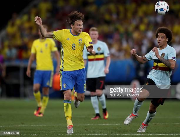 Sweden's Albin Ekdal and Belgium's Axel Witsel