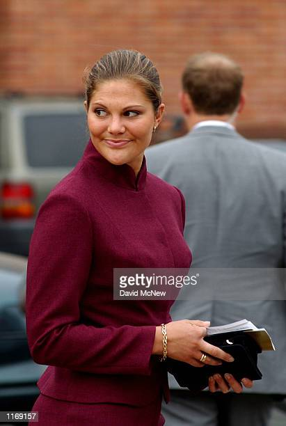 Sweden's Crown Princess Victoria departs the University of California after attending the opening of the California Nobel Prize Centennial Symposium...