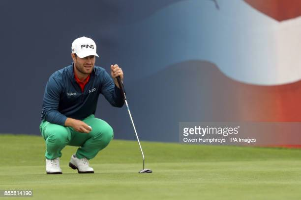 Sweden's David Lingmerth on the 18th during day three of the British Masters at Close House Golf Club Newcastle