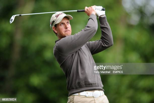 Sweden's Henrik Stenson in action during day one of the 2009 BMW PGA Championship at Wentworth Golf Club