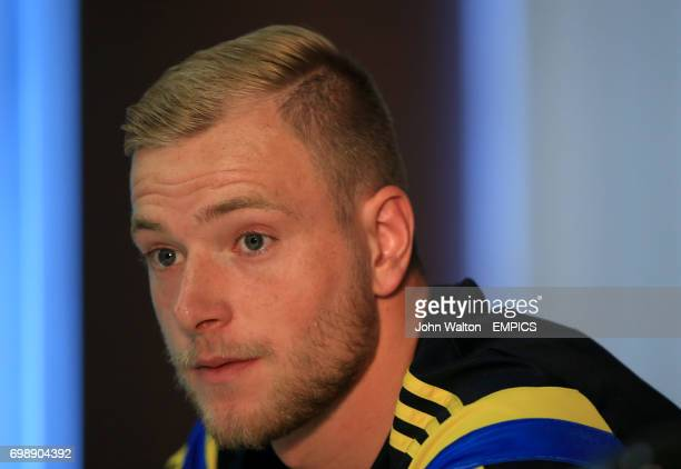 Sweden's John Guidetti during the press conference