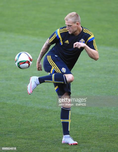 Sweden's John Guidetti during the training session