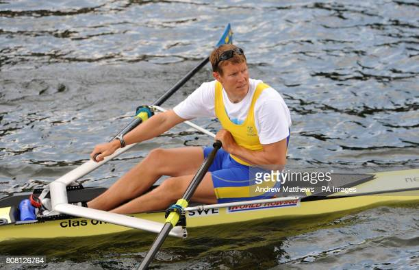 Sweden's Lassi Karonen trains in the Lunch break during the Henley Royal Reggatta at HenleyonThames Oxford