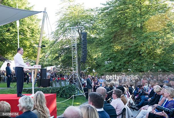 Sweden's Prime Minister Stefan Löfven speaks at Almedalen week in Visby Sweden on July 5 2016
