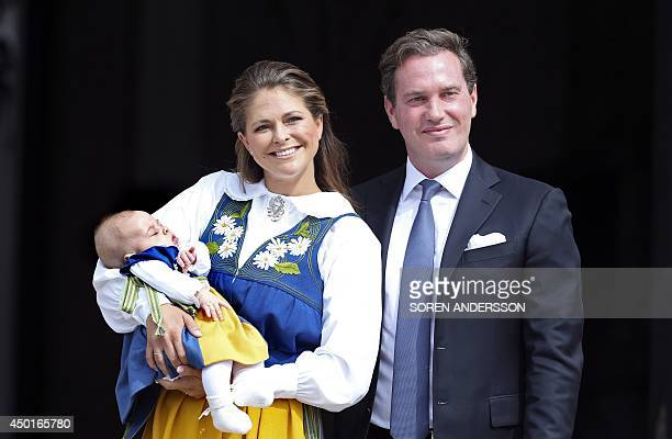 Sweden's Princess Madeleine together with her husband Christopher O'Neill present their daughter Princess Leonore as they invite the public to visit...