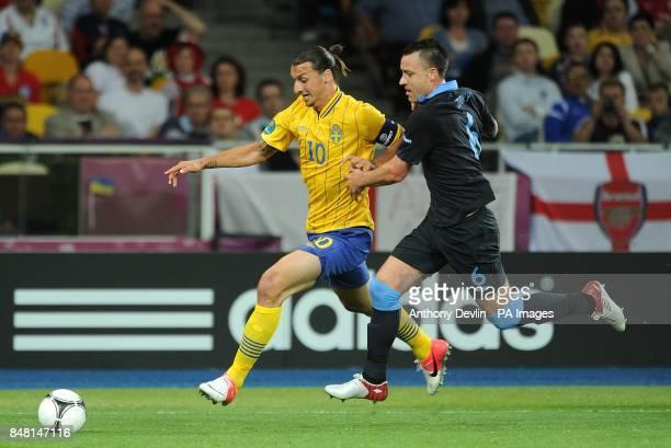 Sweden's Zlatan Ibrahimovic and England's John Terry battle for the ball