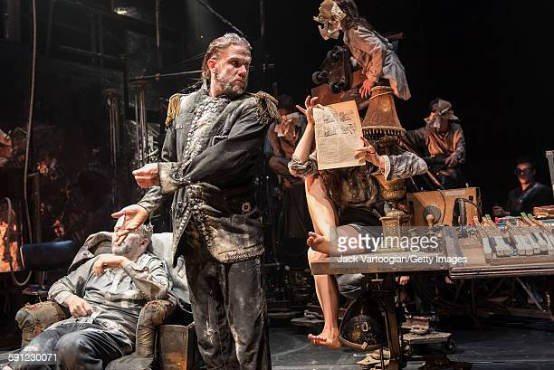 Swedish actor Magnus Jakobsson and fellow members of La Compagnie du Hanneton perform in the final dress rehearsal of 'Tabac Rouge' during the Next...