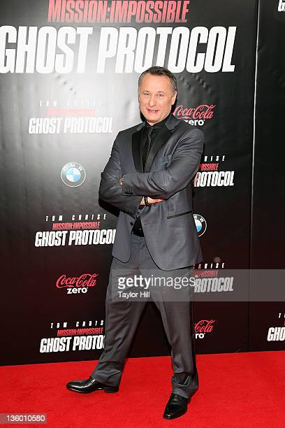 Swedish actor Michael Nyqvist attends the 'Mission Impossible Ghost Protocol' US premiere at the Ziegfeld Theatre on December 19 2011 in New York City