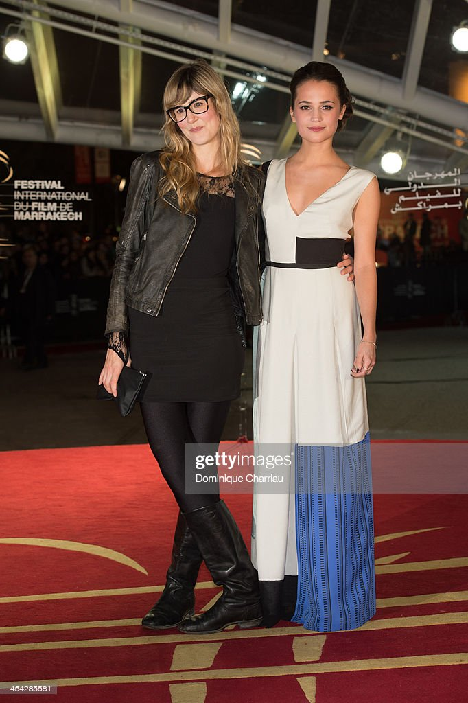 Swedish actress <a gi-track='captionPersonalityLinkClicked' href=/galleries/search?phrase=Alicia+Vikander&family=editorial&specificpeople=7246025 ng-click='$event.stopPropagation()'>Alicia Vikander</a> (R) and Director Lisa Langseth attend the Award Ceremony of the 13th Marrakech International Film Festival on December 7, 2013 in Marrakech, Morocco.
