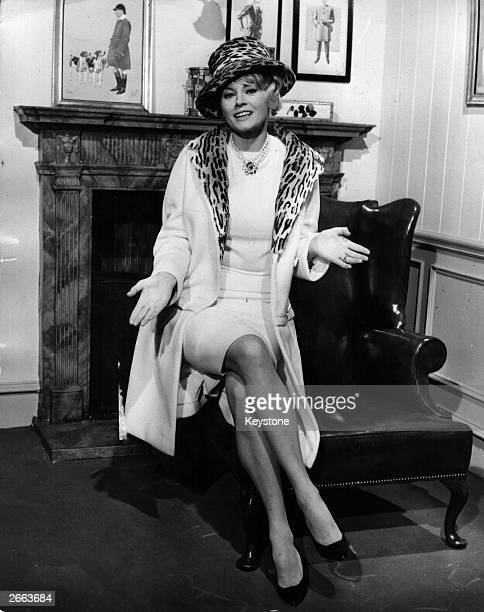 Swedish actress Anita Ekberg on the set at MGM Studios Elstree of a new film called 'The ABC Murders' adapted from the Agatha Christie novel Original...