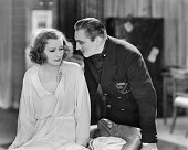 Swedish actress Greta Garbo as Grusinskaya and John Barrymore as the Baron in 'Grand Hotel' directed by Edmund Goulding 1932