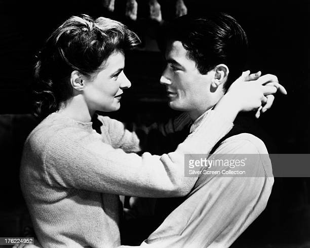 Swedish actress Ingrid Bergman as Dr Constance Petersen and Gregory Peck as John Ballantine aka Dr Anthony Edwardes in 'Spellbound' directed by...