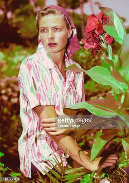 Swedish actress Ingrid Bergman on holiday in Capri Italy circa 1950