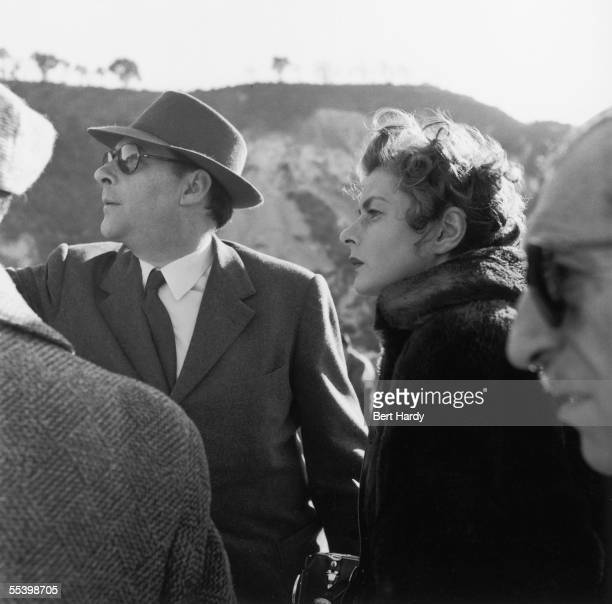 Swedish actress Ingrid Bergman on location outside Naples with her husband film director Roberto Rossellini 23rd May 1953 The couple are filming...