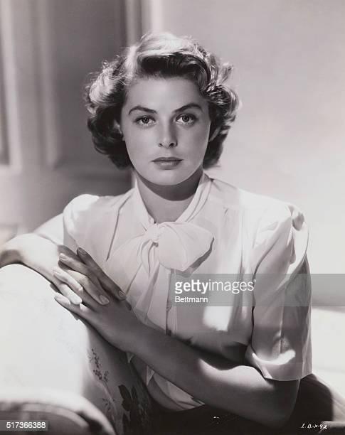 Swedish actress Ingrid Bergman poses in this closeup photograph