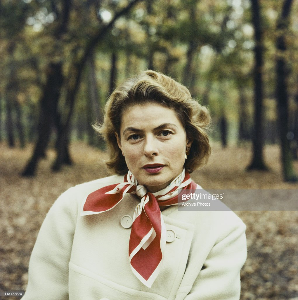 Swedish actress <a gi-track='captionPersonalityLinkClicked' href=/galleries/search?phrase=Ingrid+Bergman&family=editorial&specificpeople=70003 ng-click='$event.stopPropagation()'>Ingrid Bergman</a> (1915 - 1982) sitting outside in the woods circa 1960.