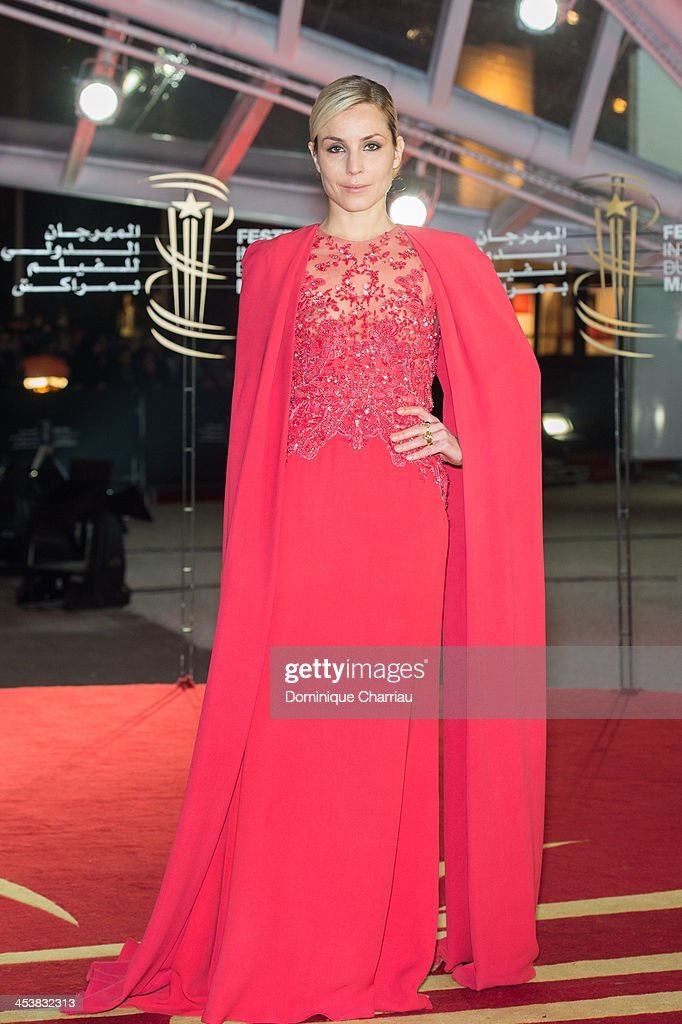 Swedish actress <a gi-track='captionPersonalityLinkClicked' href=/galleries/search?phrase=Noomi+Rapace&family=editorial&specificpeople=4522889 ng-click='$event.stopPropagation()'>Noomi Rapace</a> attends the 'Fernando Solanas' Trbute during the 13th Marrakech International Film Festival on December 5, 2013 in Marrakech, Morocco.