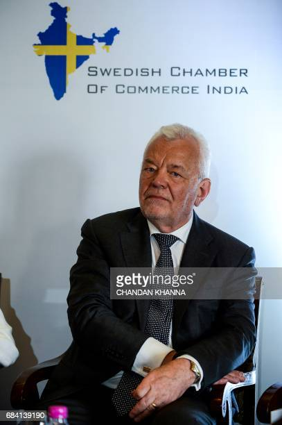 Swedish Ambassador to India Harald Sandberg looks on during the 18th Session of IndiaSweden Joint Commission for Economic Industrial and Scientific...