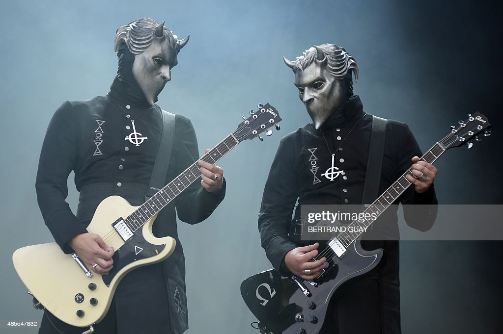 Swedish band Ghost BC performs during the RockenSeine music festival in SaintCloud near Paris on August 28 2015 AFP PHOTO / BERTRAND GUAY