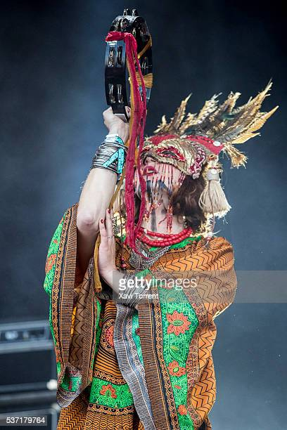 Swedish band Goat perform in concert during day 1 of Primavera Sound 2016 on June 1 2016 in Barcelona Spain