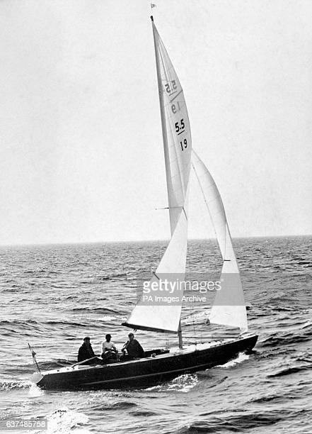 Swedish boat and winner of the Scandinavian Gold Cup 'Twins VII' in action