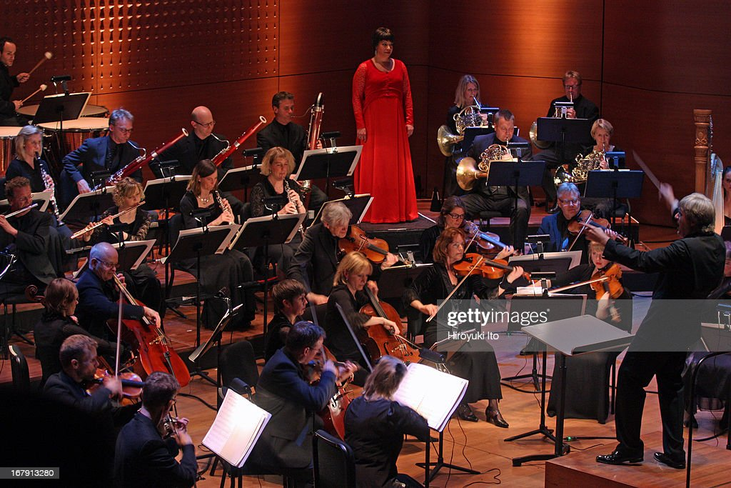 Swedish Chamber Orchestra performing at Alice Tully Hall on Thursday night, April 25, 2013.This image:The soprano Nina Stemme performing with the Swedish Chamber Orchestra led by Thomas Dausgaard.